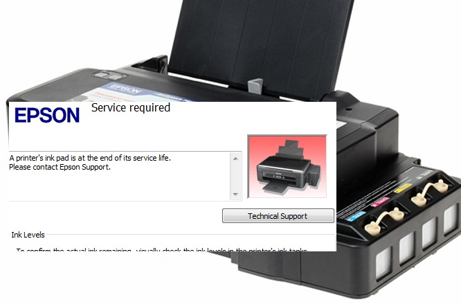 Cara Mengatasi Waste Ink Pad Counter Pada Printer Epson L110 L120 L210 L220 L300 L310 L350 L365 Belajar Komputer Mu